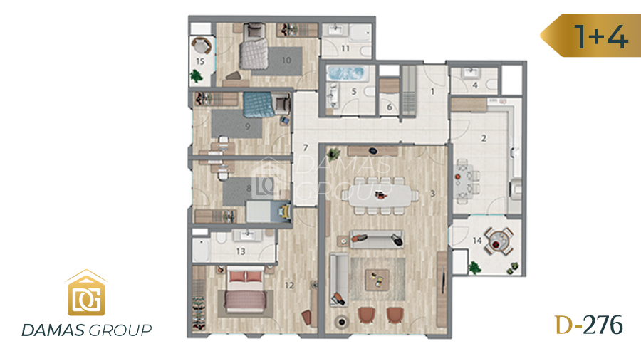 Damas Project D-276 in Istanbul - Floor Plan 06