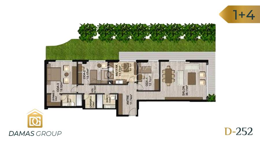 مجمع داماس 252 في اسطنبول  - صورة مخطط 02