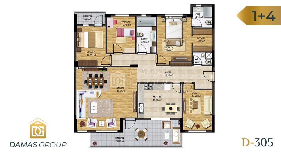 Damas Project D-305 in Bursa - Floor Plan 02