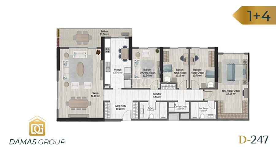 مجمع داماس 247 في اسطنبول  - صورة مخطط 07