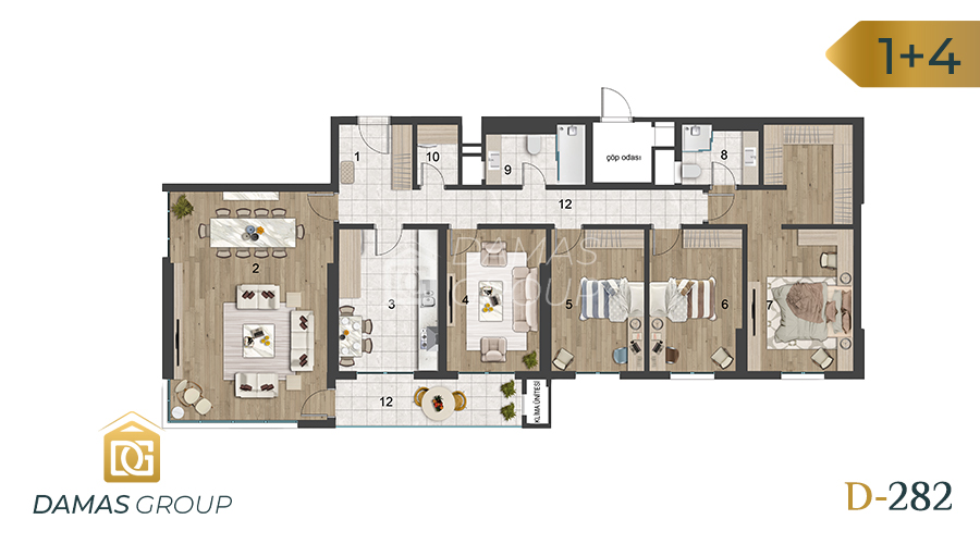 Damas Project D-282 in Istanbul - Floor Plan 06