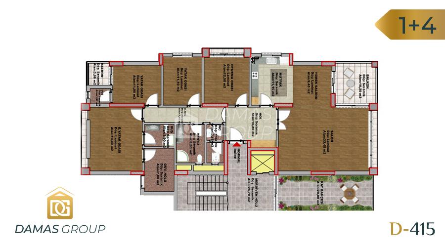 مجمع داماس 415 في طرابزون  - صورة مخطط 02