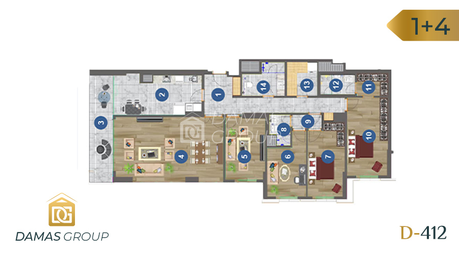 Damas Project D-412 in Trabzon - floor plan 03