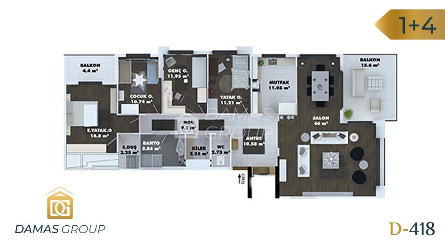 مجمع داماس 418 في طرابزون  - صورة مخطط 03