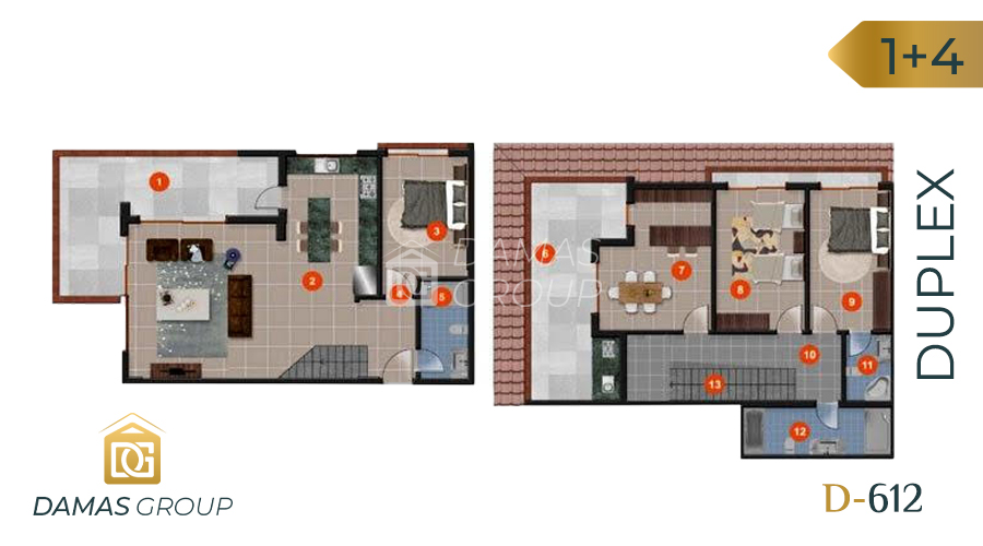 Damas Project D-612 in Antalya- Floor Plan 04