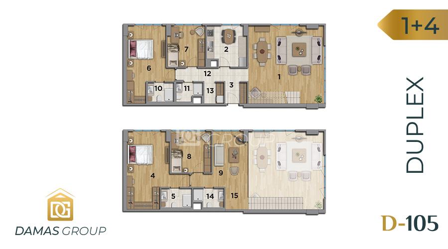 مجمع داماس 105 في اسطنبول  - صورة مخطط 04