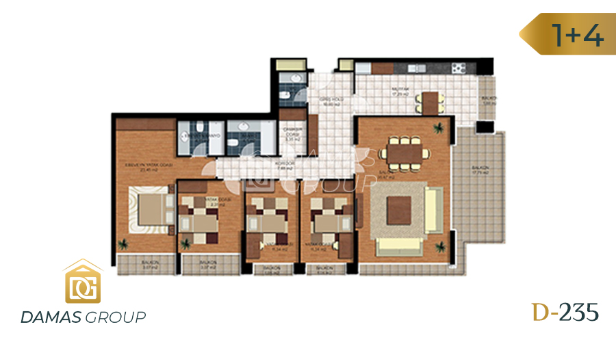 Damas Project D-235 in Istanbul - Floor Plan 05
