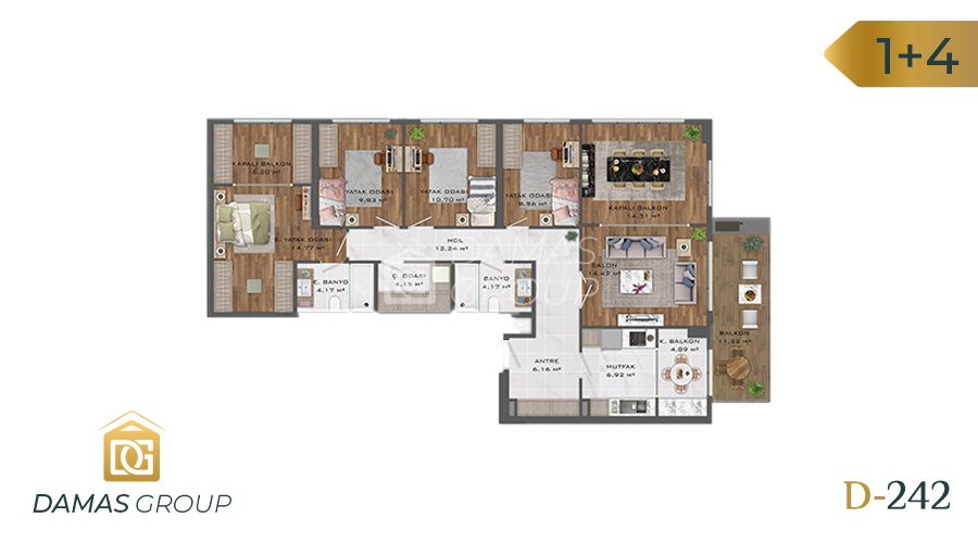 Damas Project D-242 in Istanbul - Floor Plan 04