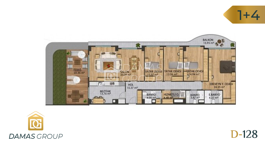 Damas Project D-128 in Istanbul - Floor Plan 05
