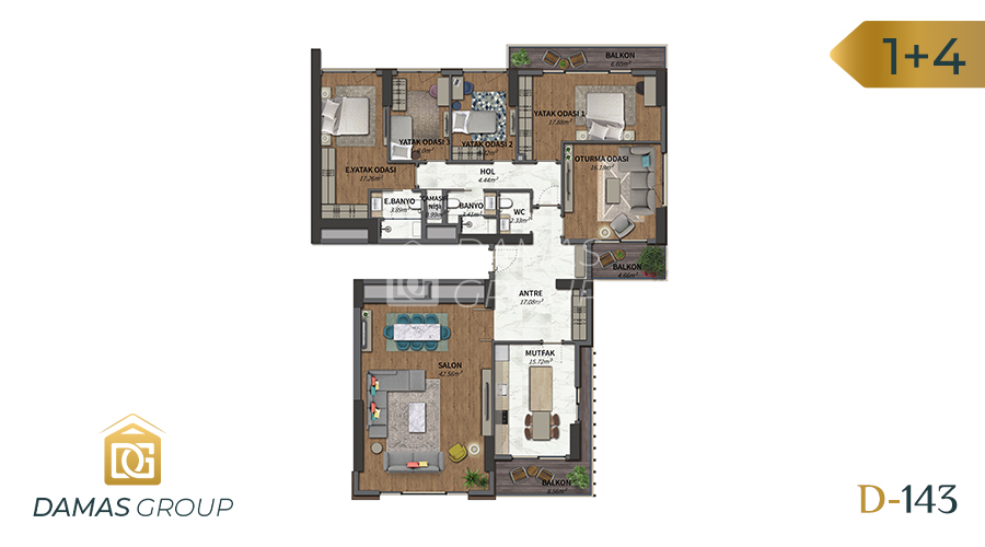 Damas Project D-143 in Istanbul - Floor Plan 04