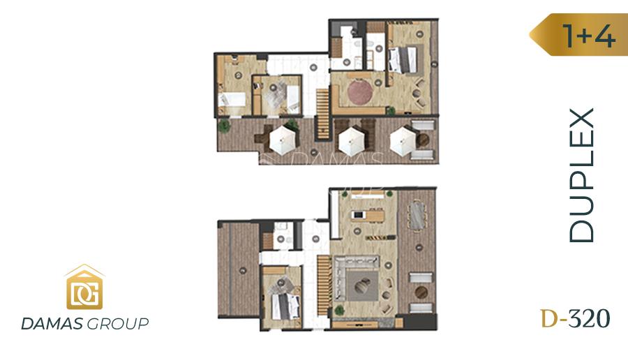 Damas Project D-320 in Bursa - Floor Plan 03