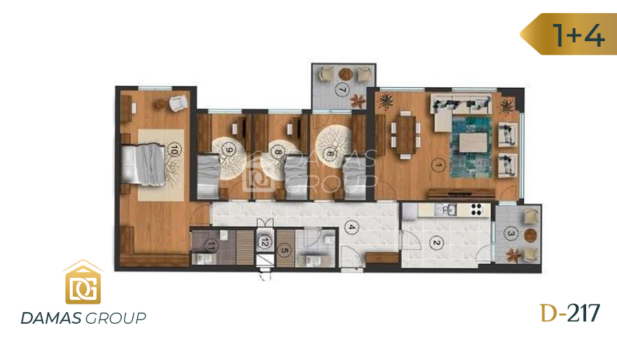 Damas Project D-217 in Istanbul - Floor Plan 04