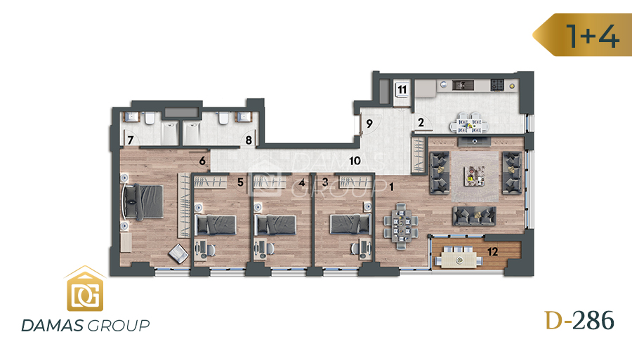 Damas Project D-286 in Istanbul - Floor Plan 05