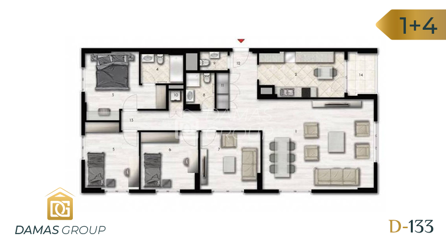Damas Project D-133 in Istanbul - Floor Plan 06