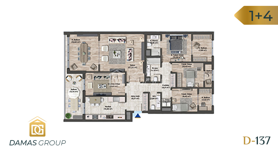 مجمع داماس 137 في اسطنبول  - صورة مخطط 05