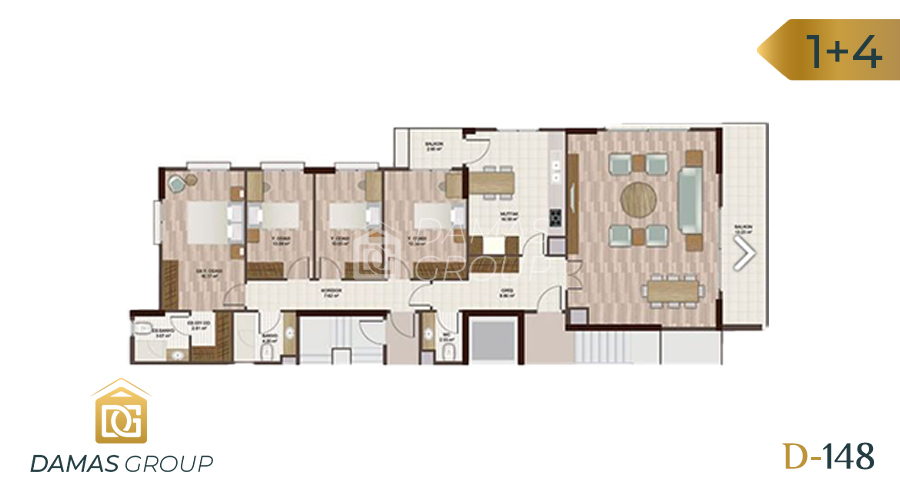 Damas Project D-148 in Istanbul - Floor Plan 04