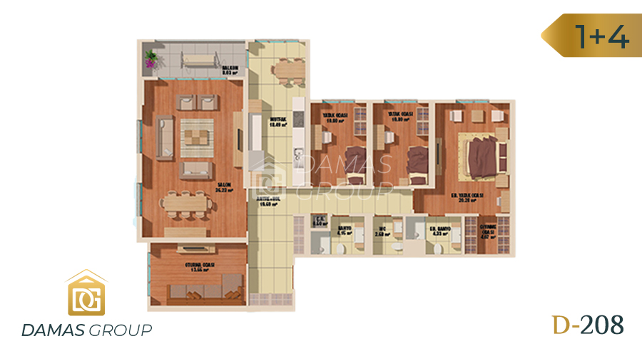 Damas Project D-208 in Istanbul - Floor Plan 05
