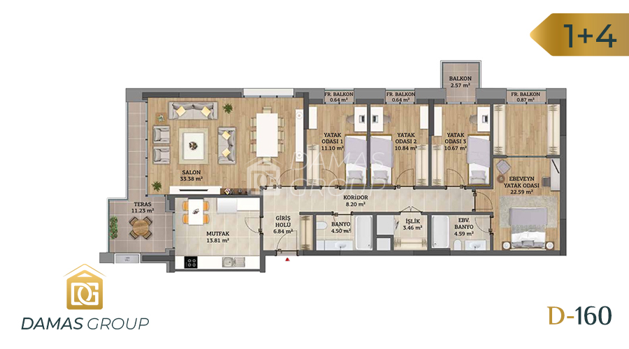 Damas Project D-160 in Istanbul - Floor Plan 05