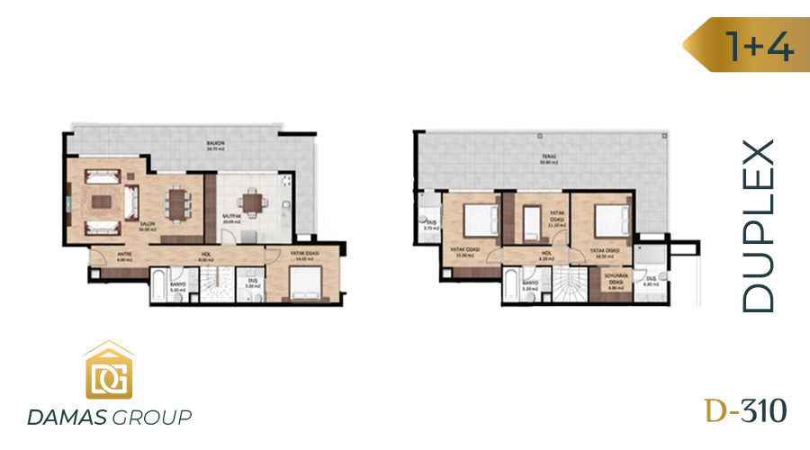 Damas Project D-310 in Bursa - Floor Plan 03