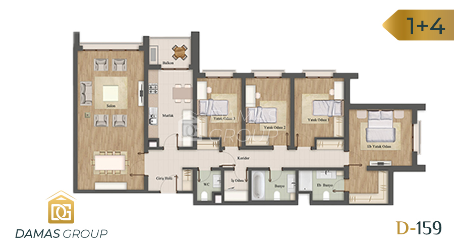 Damas Project D-159 in Istanbul - Floor Plan 05