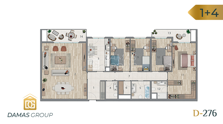 Damas Project D-276 in Istanbul - Floor Plan 05