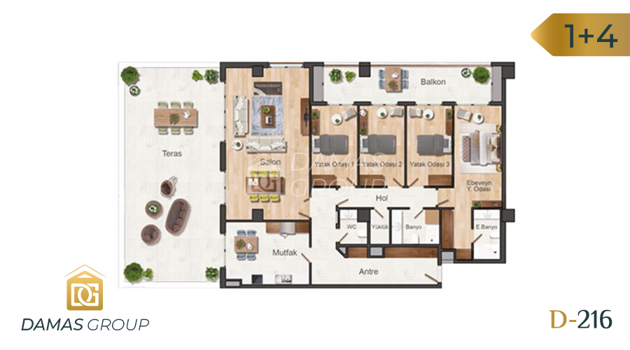 Damas Project D-216 in Istanbul - Floor Plan 04
