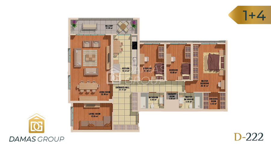 مجمع داماس 222 في اسطنبول  - صورة مخطط 05