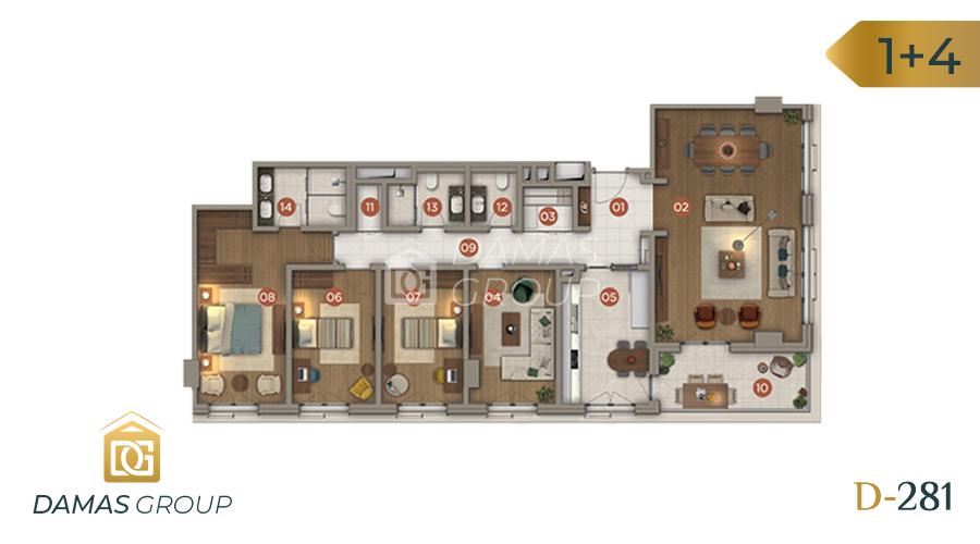 مجمع داماس 281 في اسطنبول  - صورة مخطط 05