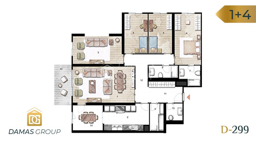 مجمع داماس 299 في اسطنبول  - صورة مخطط 04