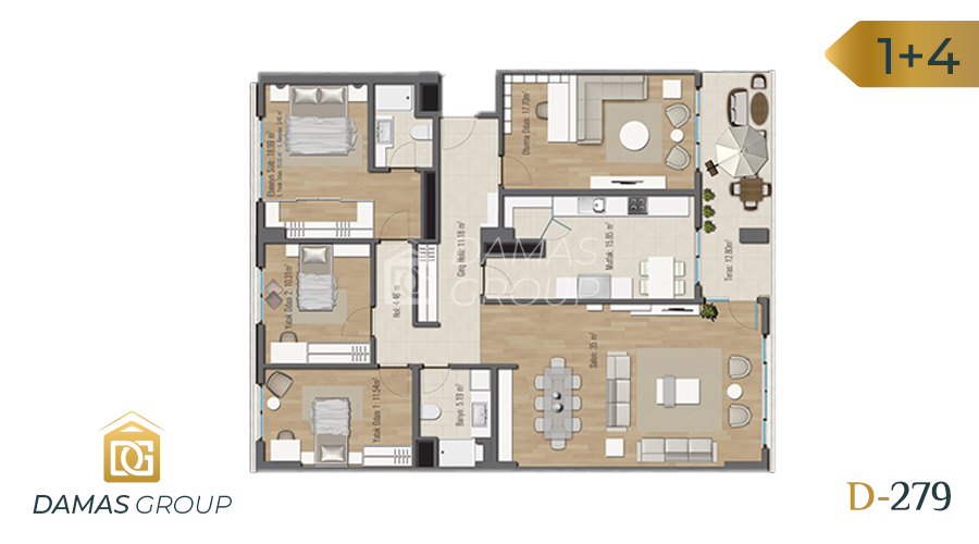 Damas Project D-279 in Istanbul - Floor Plan 05