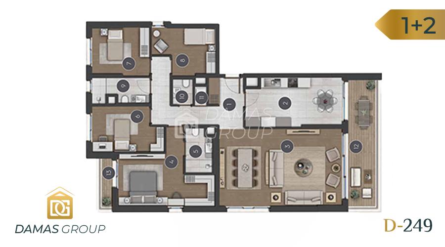 مجمع داماس 249 في اسطنبول  - صورة مخطط 06