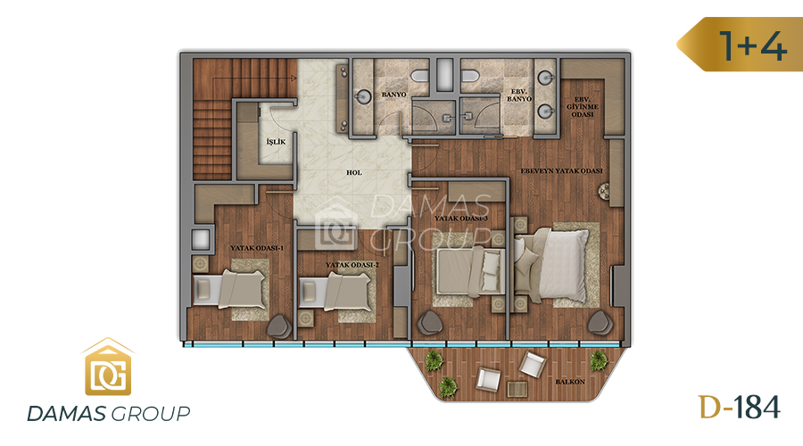 Damas Project D-184 in Istanbul - Floor Plan 05