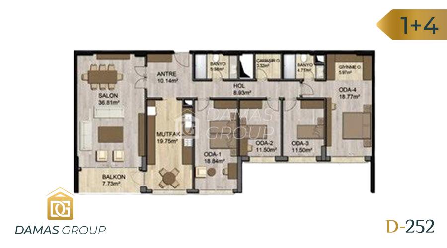 Damas Project D-252 in Istanbul - Floor Plan 01
