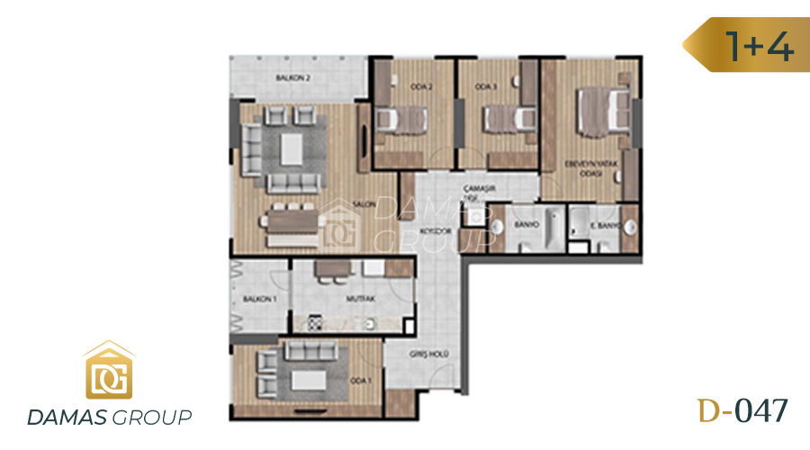 Damas Project D-046 in Istanbul - Floor Plan 04