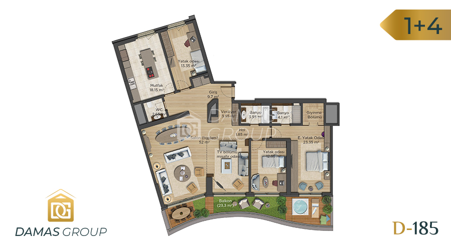 Damas Project D-185 in Istanbul - Floor Plan 06