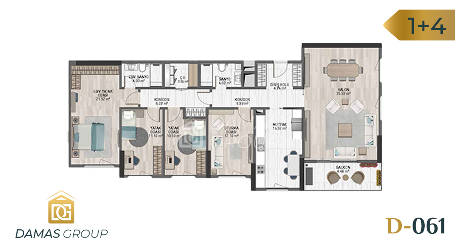 Damas Project D-061 in Istanbul - Floor Plan 04
