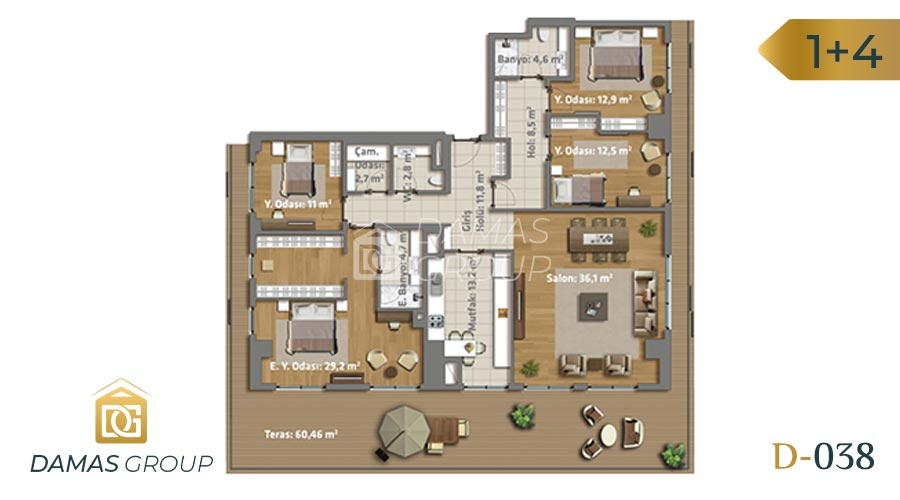 Damas Project D-038 in Istanbul - Floor Plan 05