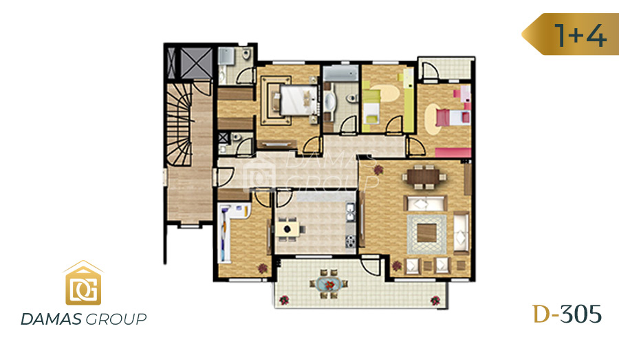 Damas Project D-305 in Bursa - Floor Plan 01