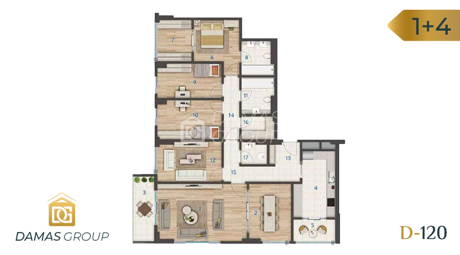 Damas Project D-120 in Istanbul - Floor Plan 04