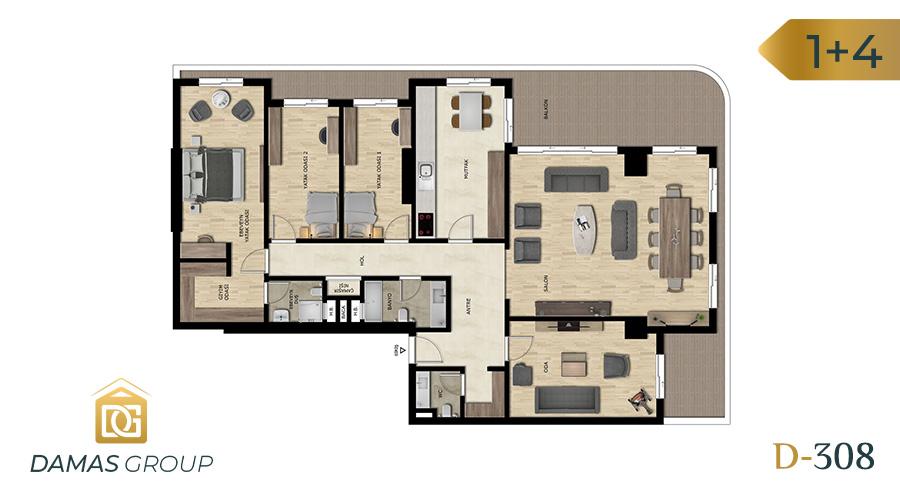 مجمع داماس 308 في بورصة  - صورة مخطط 03