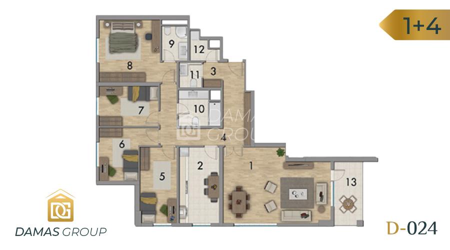Damas Project D-024 in Istanbul - Floor Plan 03