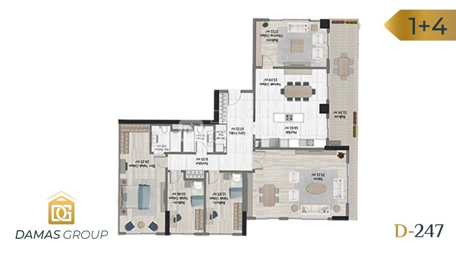 مجمع داماس 247 في اسطنبول  - صورة مخطط 06