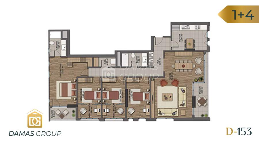 مجمع داماس153  في اسطنبول  - صورة مخطط 06