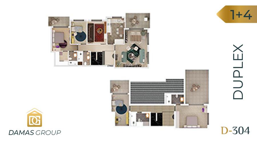 Damas Project D-304 in Bursa - Floor Plan 03