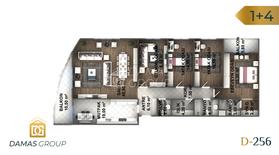 Damas Project D-256 in Istanbul - Floor Plan 05
