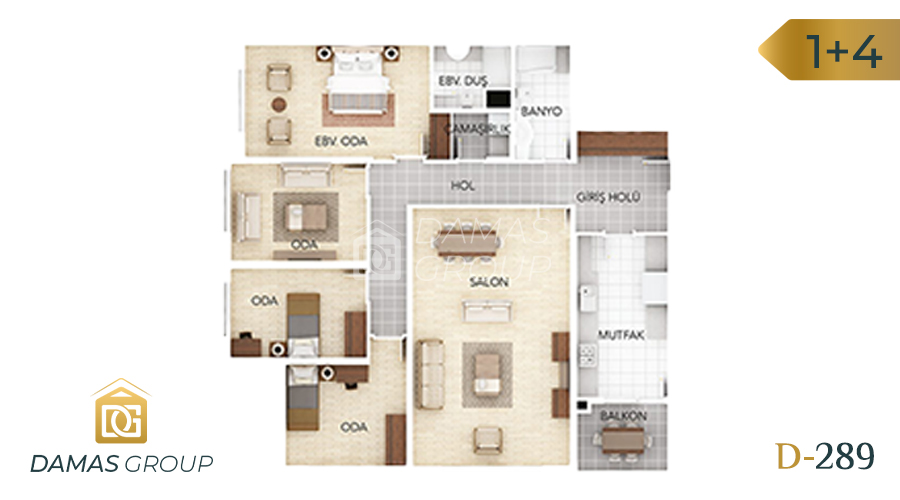 Damas Project D-289 in Istanbul - Floor Plan 04
