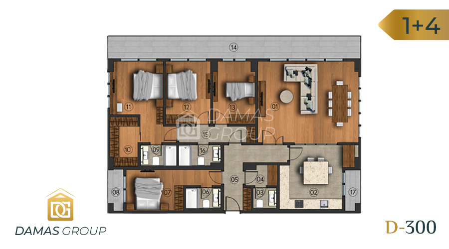 Damas Project D-300 in Istanbul - Floor Plan 04