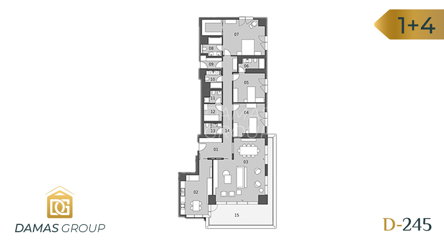 Damas Project D-245 in Istanbul - Floor Plan 03