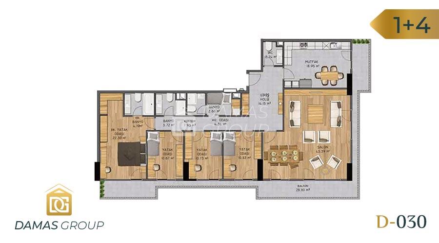 Damas Project D-030 in Istanbul - Floor Plan 06