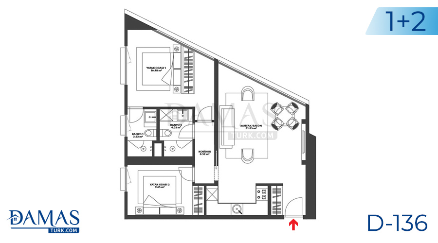 Damas Project D-136 in Istanbul - Floor plan picture 04